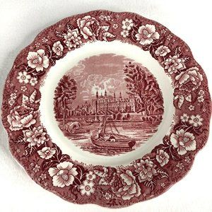 Palissy Pottery Dinner Plate Thames River Scenes